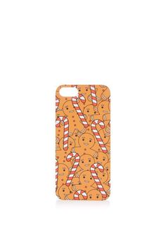 Invest in a festive accessory for your phone with this super-cute Christmas-themed gingerbread man iPhone 5 and 5s case. #Topshop