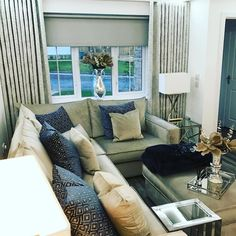 We Customer pics. Living Room Decor Inspiration, Soft Furnishings, Couch, Curtains, Furniture, Home Decor, Settee, Blinds, Decoration Home