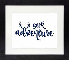 Antler Printable // Antler Decor // Seek Adventure by NothingPanda