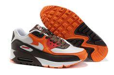 new concept e77c2 b13df 309299 601 Nike Air Max 90 White Burgundy Orange AMFM0636 Nike Air Max  Running, Running