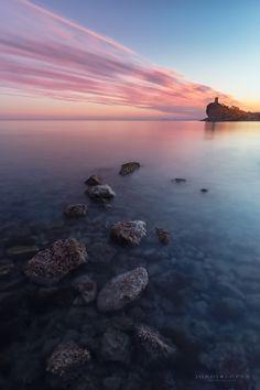 De esos lugares donde la puesta de sol simple tiene algo especial.