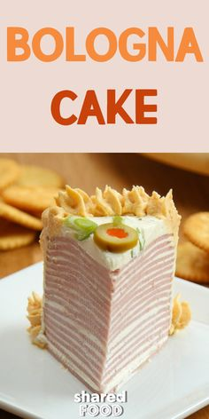 This simple Bologna Cake is layers of America's favorite lunch meat Bologna . This simple Bologna Cake is layers of America's favorite lunch meat Bologna … , Cheese Appetizers, Appetizers For Party, Bologna Cake, Bologna Sandwich, Meat And Cheese, Cheddar Cheese, Bologna Recipes, Meat Cake, Hors D'oeuvres