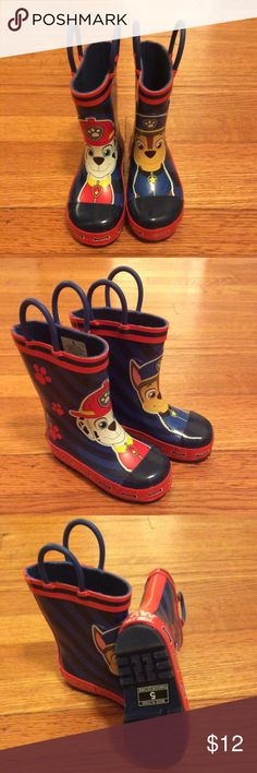 Toddler Size 5 Paw Patrol Rain Boots Like new...worn once. Super cute Paw Patrol rain boots. Shoes Boots
