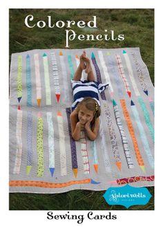 cute quilt. colored pencils.