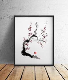 Cherry Blossom Japanese Style Painting. Abstract Art Wall Home Decor fine print. di SamuraiArt su Etsy https://www.etsy.com/it/listing/226653156/cherry-blossom-japanese-style-painting