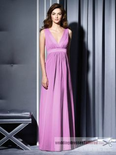Ribbon V-neck Taffeta A-line Long Bridesmaid Dress [dress796for2013] - $156.03 : --- Tailored wedding Dress for 2013