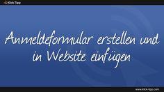 Anmeldeformular erstellen und in Website einfügen