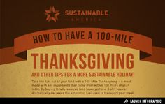 #Infographic : How to Have a 100-Mile Thanksgiving | Living on GOOD