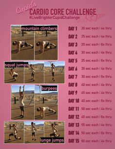 From Valentine's Day to the last day of February--get your heart pumping with this cardio challenge! Gotta love those burpees!  My vision is to help people live healthy, fulfilling lives...on and off line. Visit http://VibrantExistence.com