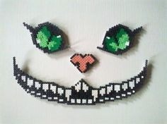 Alice in wonderland perler bead Cheshire Cat perler beads Perler Bead Designs, Hama Beads Design, Pearler Bead Patterns, Diy Perler Beads, Perler Bead Art, Perler Patterns, Pearler Beads, Fuse Beads, Pixel Art
