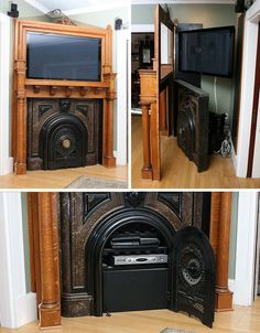 this is a gorgeous way to display a tv - created by ModVic restoration-and-redesign business