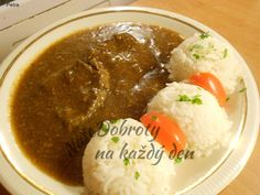 Slovak Recipes, Palak Paneer, Food And Drink, Meat, Chicken, Ethnic Recipes, Essen, Cubs