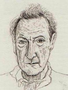 Lucien Freud by David Hockney
