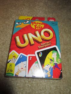 NEW Phineas and Ferb Uno Card Game Mattel 2012 ages 7 and up Mattel Uno Card Game, Card Games, Phineas And Ferb, Game Sales, Disney Pixar, Baby Room, Puzzles, Disneyland, Childhood