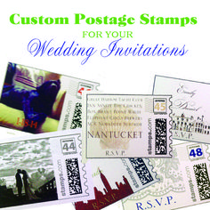 Custom Postage Stamps for your Wedding Invitations