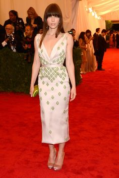 Click to see the best Met Gala red-carpet dresses EVER (like Jessica Biel's pale pink dress).
