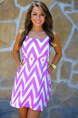 Joy For Chevron Sun Dress: Orchid