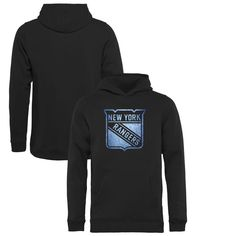 New York Rangers Youth Pond Hockey Pullover Hoodie - Black