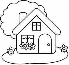 Imagenes De Casas Para Colorear Blanc Casitas Infantiles