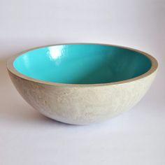 Source fruit bowl blue cement. Available for €45. MicaRicaShop en Etsy…