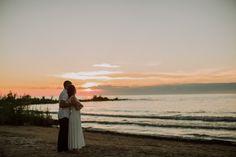 Sunset Beach Engagement Session- Ally & Nicholas Photography