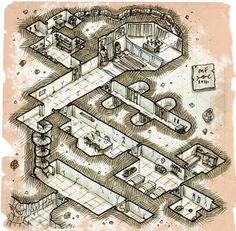 Isometric temple ruins