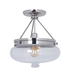 Craftmade 35051-PLN Yorktown 1 Light 13 inch Polished Nickel Semi-Flush Ceiling Light #lightingnewyork #lny #lighting
