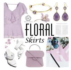"""""""Floral skirt"""" by helenevlacho ❤ liked on Polyvore featuring Preen, River Island, Alexander Wang and Roksanda"""