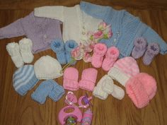 Ravelry: Premature Baby hat, cardigan, booties, mitts 2lb - 4lb pattern by samantha ralph