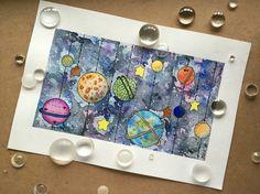 Мой космос #космос#планета#вселенная#акварель#mrrart