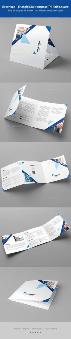 Brochure – Triangle Multipurpose Tri-Fold Square - Corporate Brochures