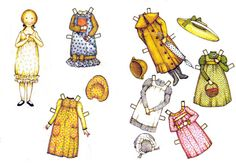 Holly Hobbie di carta da ritagliare e vestire