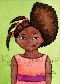 Hair Time  ACEO 25x35 print set by MossyRockDesigns on Etsy, $12.00
