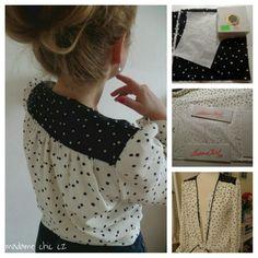 DYI spring polka dot blouse