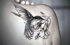 Zobacz zdjęcie tatuaż piękny koliber w pełnej rozdzielczości
