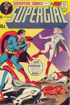 Supergirl's Touch of Death. Adventure Comics #398. #Supergirl #Superman…