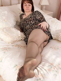 Christine In Brown Nylons