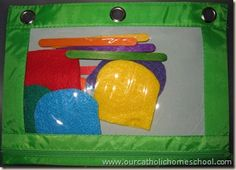 Easy to create toddler busy bag. Promotes color matching and identification. Summer Daycare, Summer School Activities, Daycare School, Tot School, Preschool Projects, Craft Activities For Kids, Toddler Activities, Easter Activities, Preschool Ideas