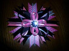 Pink & black bow