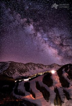 Starlight Mountain Ski Hill, Arapahoe Basin, west of Denver, Colorado.