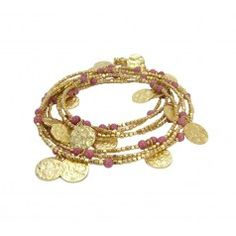 Cleo rhodolite necklace or bracelet, can be worn so many different ways.