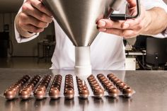 Tip from our Corporate Pastry Chef William Dekker:  With a dispenser you can fill our Truffle Shells easily and quickly. By using the dispenser each Truffle Shell will have the exact same amount of filling.  http://www.dobla.com/product/287/truffle_shells_dark.html