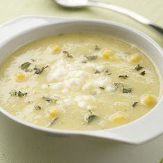 Golden Summer Squash and Corn Soup #wintersoup