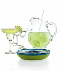 #macysdreamfund  The Cellar Glassware, Margarita 7 Piece Set - Glassware - Dining & Entertaining - Macy's Bridal and Wedding Registry