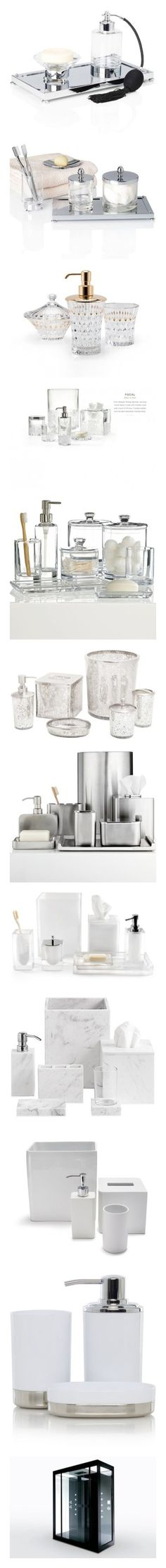 """Bathroom: sink, bath, tub, shower, toilet, accessories,"" by riell-projecthome ❤ liked on Polyvore featuring home, bed & bath, bath, bath accessories, marble bathroom accessories, marble bath accessories, home improvement, storage & organization, anodized brushed bronze and shower doors"