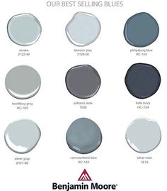 Benjamin Moore best selling blues
