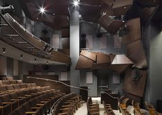 sound baffles - perfect use of Gehry's fractal-ish style   | Dezeen » Blog Archive » Signature Center by Frank Gehry
