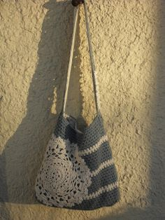 Heegeldatud kott heegeldatud pitslinikuga :p /Crocheted bag.