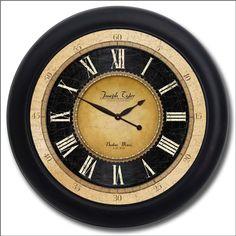 "Augustus Clock | The Big Clock Store - Augustus Clock blk frm 36"""