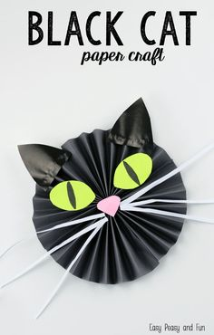 "Love cats? Why not make this lovely little black cat paper craft? This makes a perfect Halloween craft or  well just a ""any time of the year"" crafts as cats are"